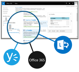 Staffing & recruiting software for Office 365.