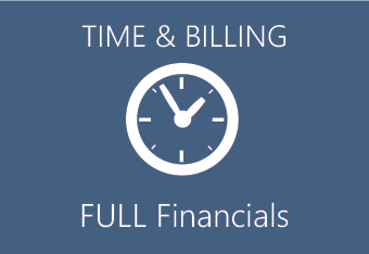 Manage time and billing - full financials