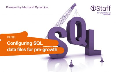 Configuring SQL data files for pre-growth