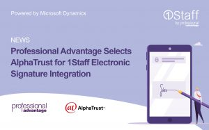 AlphaTrust selected for 1Staff Electronic Signature Integration