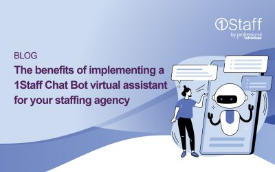 Eight benefits of implementing a 1Staff Chat Bot virtual agent for your staffing agency