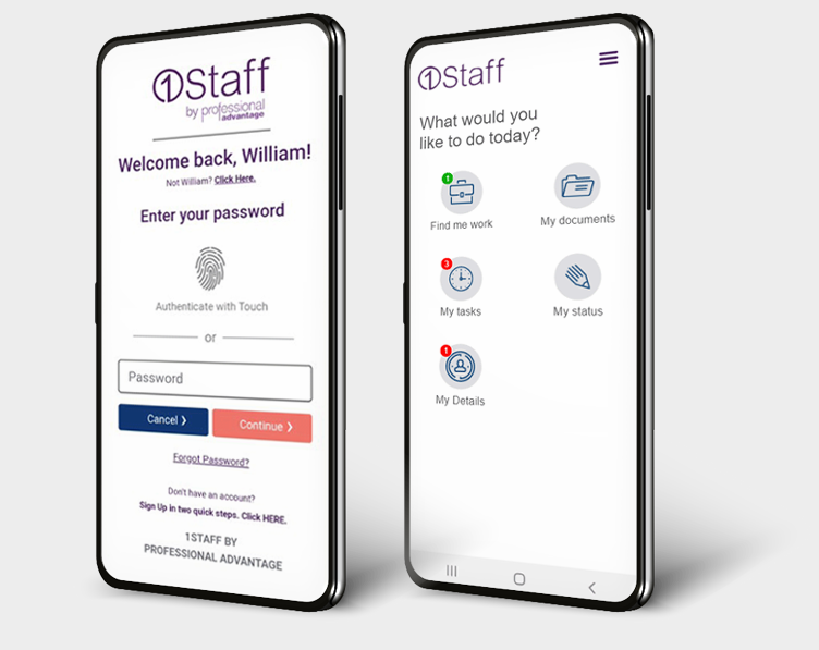 1Staff Mobile gives you talent engagement in one place