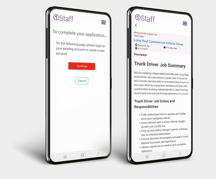 1Staff Mobile helps you self apply to fill roles quickly